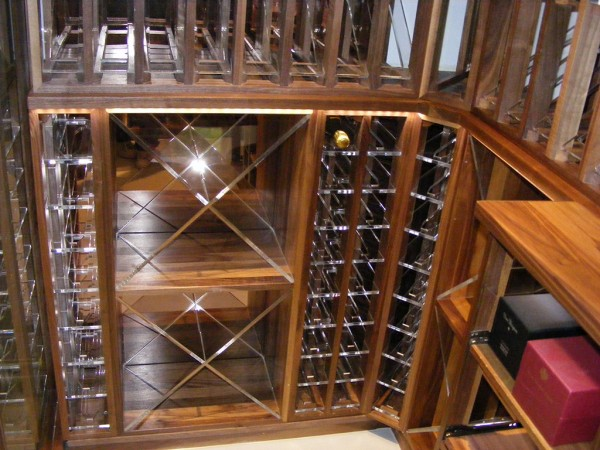 Wine Cellar made with Acrylic and Walnut