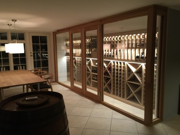 Wine Cellar made with Oak