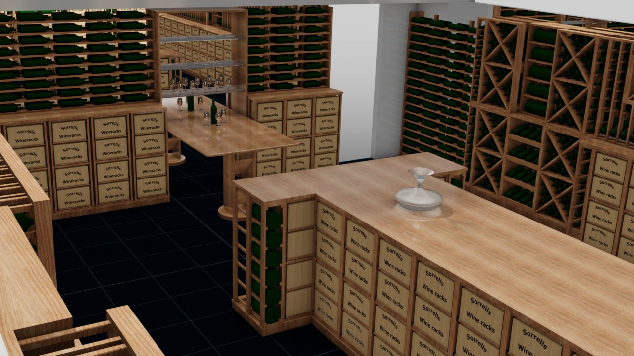 Wine Cellar Design And 3d Visuals Carlo Garn