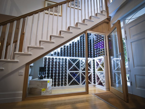 Wine Cellar made with Redwood