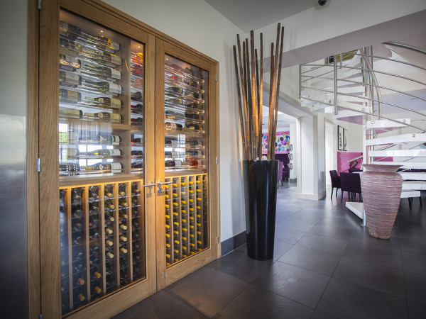 Wine Cellar made with Acrylic and Oak